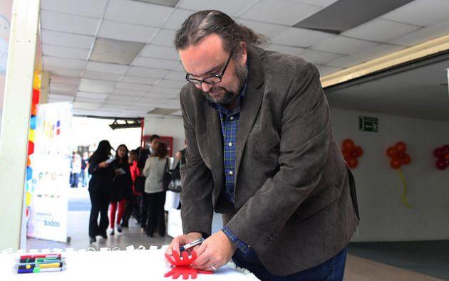 Freddy Peñafiel es Ministro de Educación desde noviembre de 2016. Foto: Flickr del MinEduc.