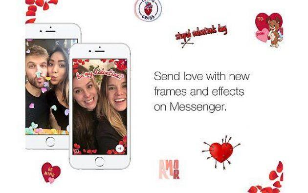 Usuarios de Facebook Messenger podrán enviar videos con corazones flotando por el día del amor y la amistad. Foto: Facebook