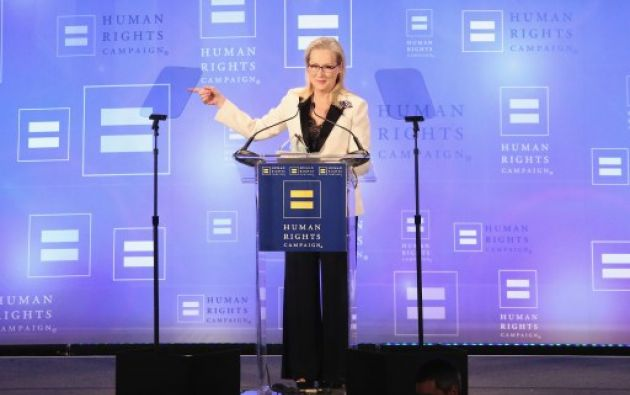 Streep respondió con ironía este sábado sobre los ataques a su figura. Foto: AFP