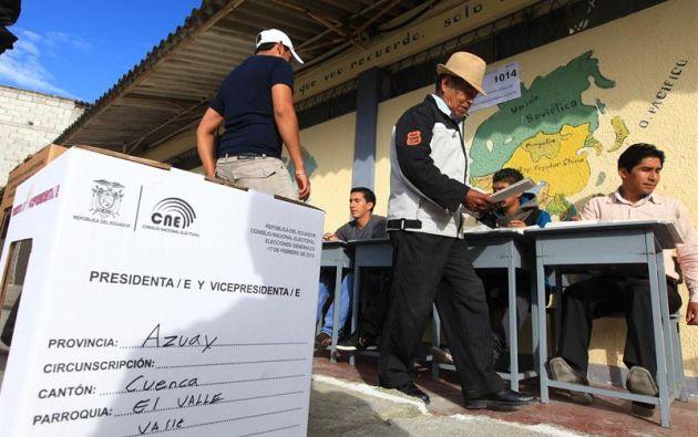 Ecuador destinará $131,6 millones para organizar las elecciones del 19 de febrero y eventualmente las segunda vuelta presidencial. Foto: Archivo.