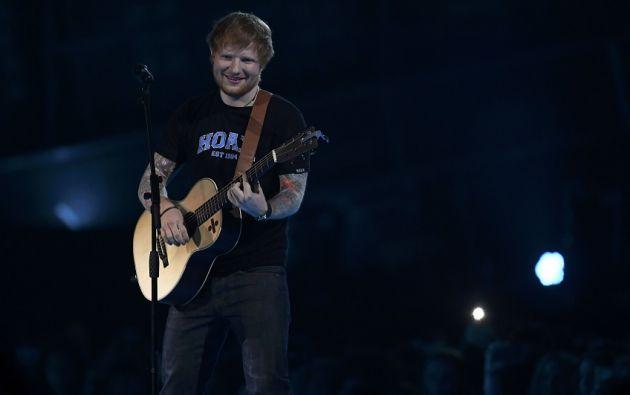 Sheeran en la O2 Arena en Londres, el pasado 22 de febrero. Foto: REUTERS.