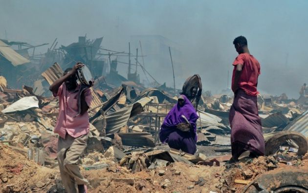 """SOMALIA.- El país decretó a finales de febrero el estado de """"catástrofe nacional"""" por la sequía que golpea el país y amenaza a cerca de tres millones de personas. Foto: AFP"""