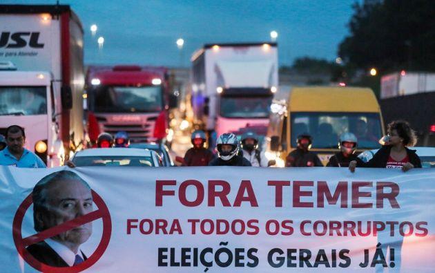 Unas 5.000 personas participaron en la protesta contra el gobierno en la Explanada de los Ministerios de Brasilia. Foto: Reuters.