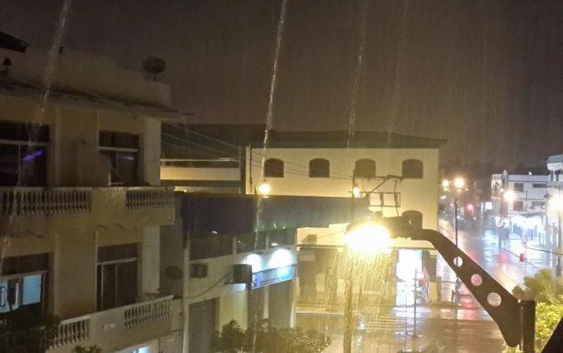 El ECU 911 Samborondón registró varios sectores inundados en la ciudad. Foto: Twitter ECU 911.