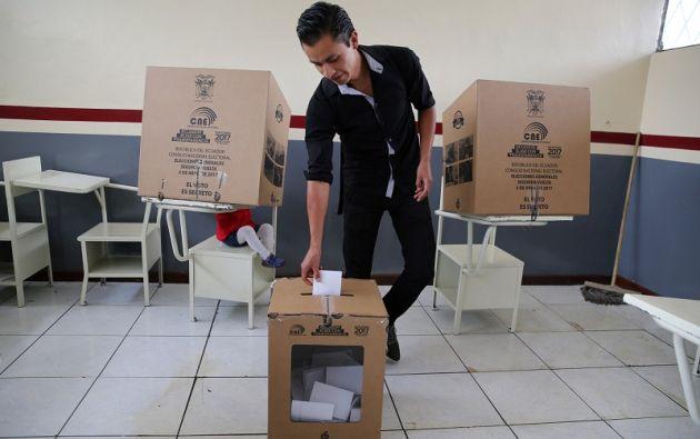 La segunda vuelta electoral se realizó este domingo 2 de abril de 2017. Foto: Reuters.