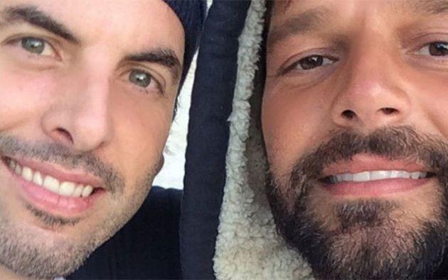 Ricky Martín y Carlos González Abella, fueron pareja durante una larga temporada. Foto: Internet