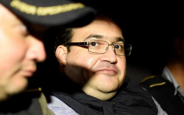 Javier Duarte fue detenido tras seis meses de búsqueda internacional. Foto: AFP