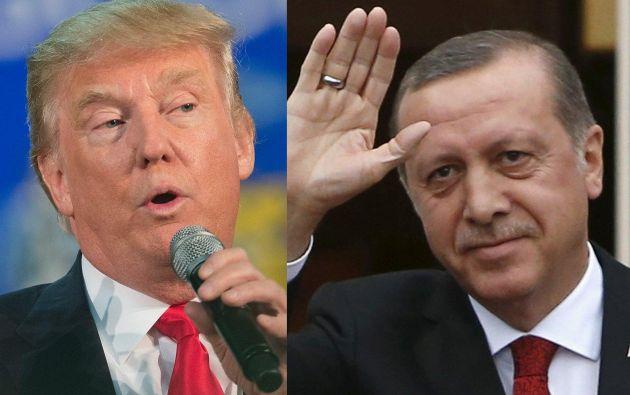 El presidente Trump y el presidente Erdogan también discutieron la campaña contra el grupo Estado Islámico.| Foto: AFP/REUTERS