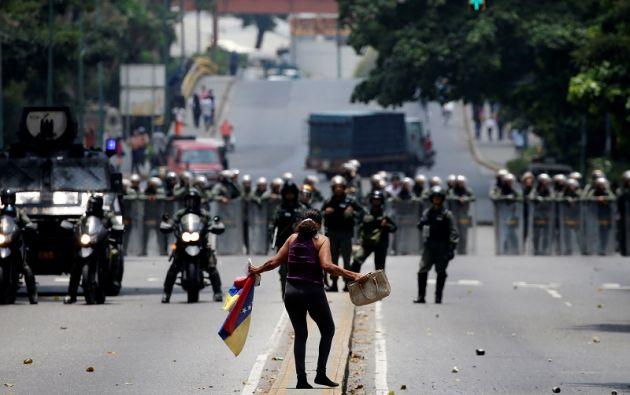 Dos personas han fallecido en las protestas en Venezuela. Foto: Reuters.