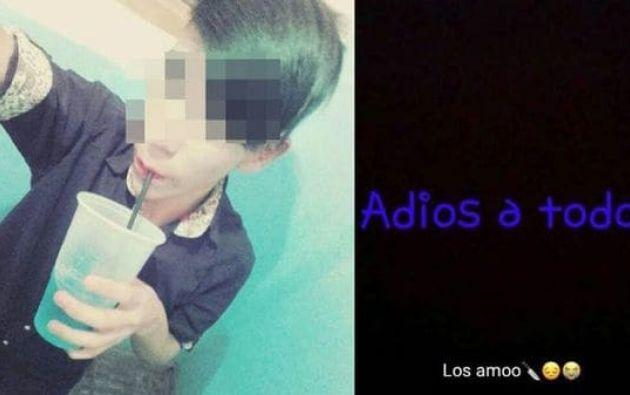 """Sus familiares revisaron el perfil en redes sociales del menor y observaron que él había publicado en su estado de WhatsApp """"Jugando a la Ballena Azul"""". Foto: Tomada de Infobae."""