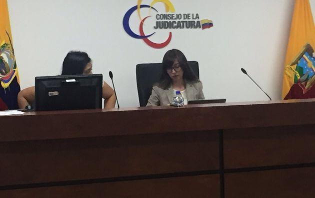 La Jueza María Elena Lara concedió una de las 2 medidas cautelares pedida contra Cedatos. Foto: Cortesía Francisco Garcés