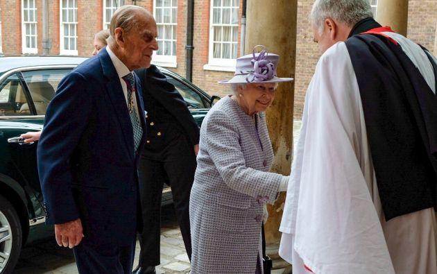 El príncipe Felipe junto a la Reina en una de sus últimas apariciones públicas.Foto: TW de Roya Familiy