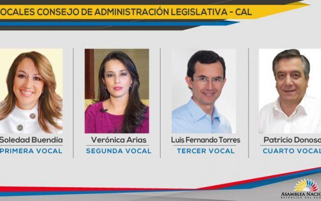 Estos son los 4 integrantes del CAL, en la nueva Asamblea. Foto: TW de Asamblea