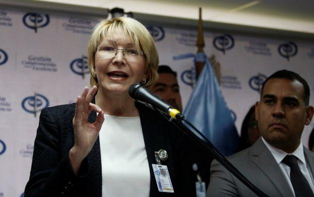 Luisa Ortega, en una conferencia de prensa, el pasado 24 de mayo. | Foto: Reuters.