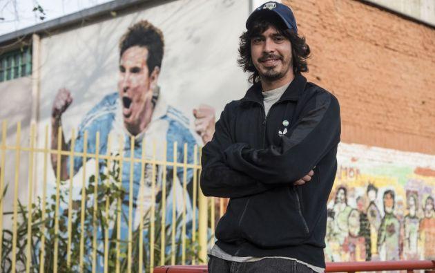 Diego Vallejos, amigo de la infancia de Messi.   Foto: AFP.