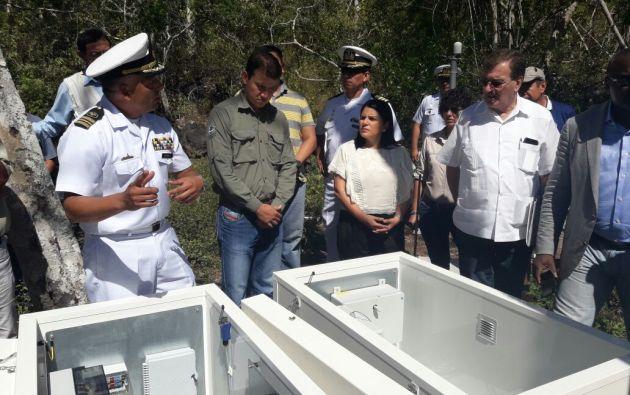 La estación, la segunda que habilita en esas islas la Organización del Tratado de Prohibición Completa de Ensayos Nucleares (OTPCE). Foto: Twitter