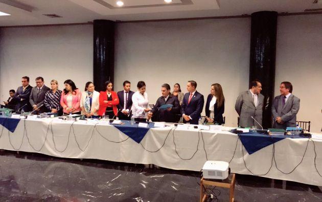 Justo en el día en que se vencía el plazo para presentar su informe, la Asamblea recomendó iniciar el juicio político a Pólit. Foto: Asamblea