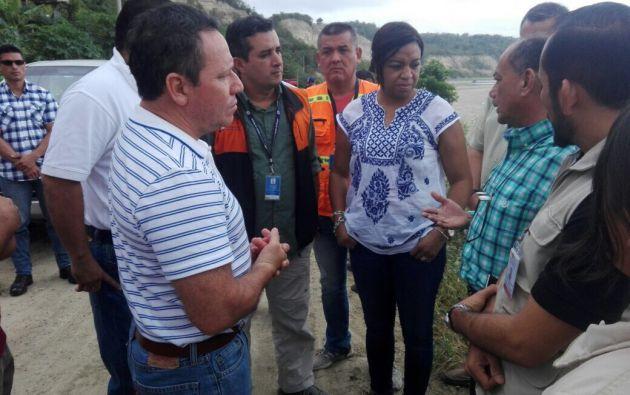 En El Matal se constató que varias familias viven en zonas donde se producen deslizamientos de tierra. Foto: TW de SGR