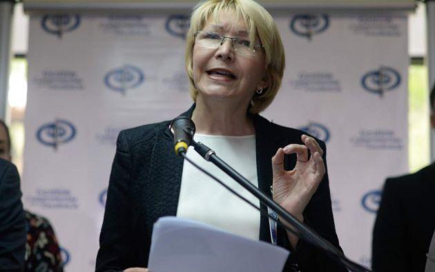 La fiscal general Luisa Ortega Díaz agradeció el apoyo del pueblo venezolano. Foto: AFP