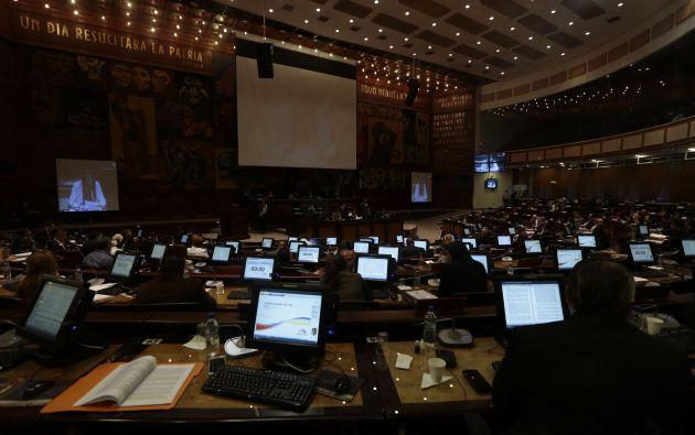 Con 132 votos afirmativos y 1 abstención, la Asamblea Nacional de Ecuador aprobó el pedido de moción de censura contra el excontralor Carlos Pólit Faggioni. Foto: API