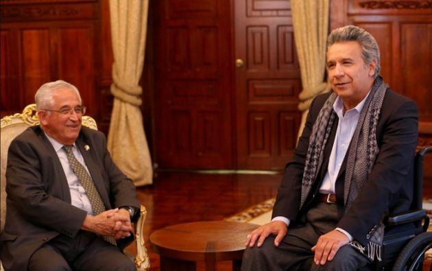 José Bolívar Castillo ha sido alcalde de Loja en tres ocasiones anteriores. Foto: Twitter presidencia.