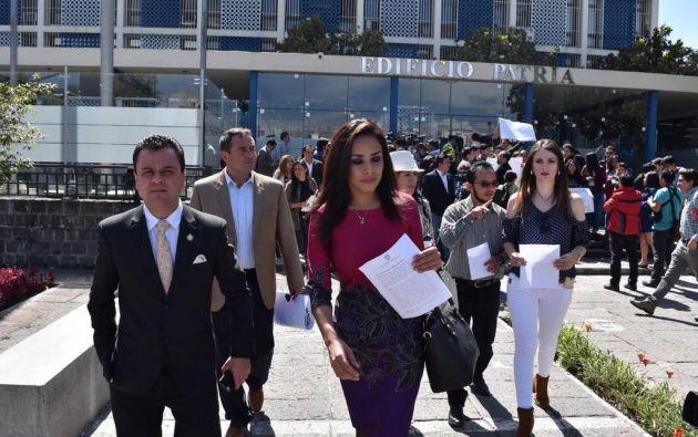 A inicios de junio, la asambleísta Cruz presentó documentos a la Fiscalía de una supuesta participación de Glas en el caso Caminosca. Foto: Ecuavisa