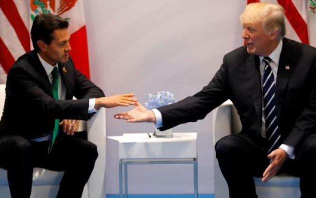 La cita tiene lugar más de cinco meses después de que Peña Nieto cancelara una visita a la Casa Blanca. Foto: AFP