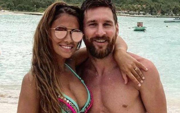 Lionel Messi y Antonella Rocuzzo pasaron su luna de miel en las islas de Antigua y Barbuda. Foto: Twitter