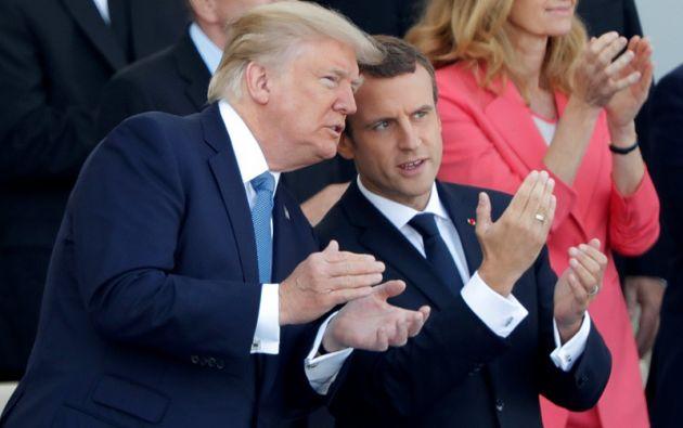 """Macron dijo que la presencia de Trump en París """"es el signo de una amistad que atraviesa los tiempos"""". Foto: Reuters"""