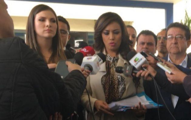 """Jeannine Cruz: """"increíble que por pedido del asambleísta Albornoz seamos llamadas por Fiscalía, esperamos esa agilidad con nuestros pedidos"""". Foto: Twitter"""