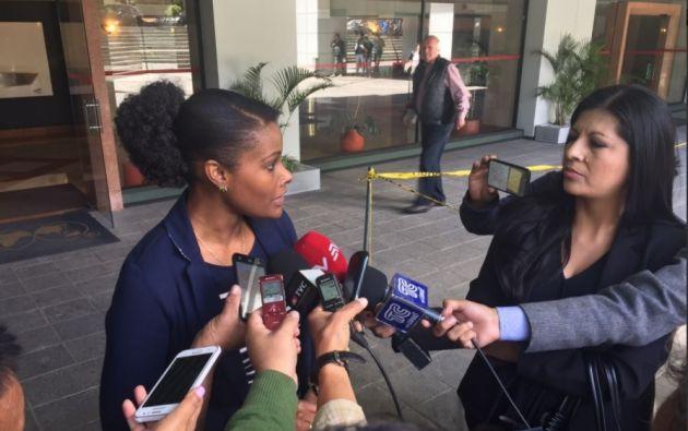 """""""Estamos solicitando las versiones de todas las personas que son mencionadas en el proceso investigativo"""", dijo la Fiscal. Foto: Twitter"""
