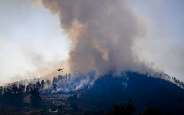 Alimentados por el viento y el calor, los incendios siguieron avanzando al centro de Portugal. Foto: AFP