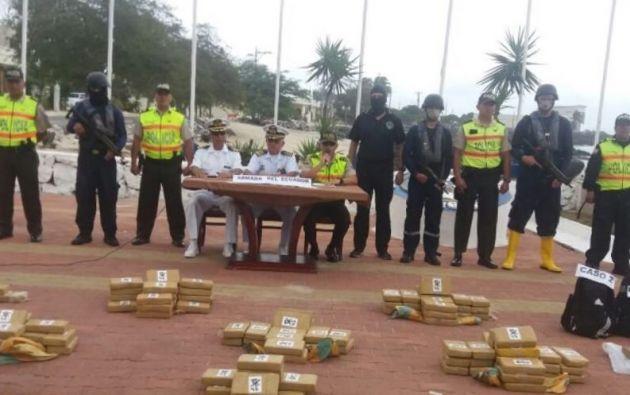 En la operación se detuvo a los ecuatorianos Pegler C. G. y Luis O.O. y a Segundo G.C, de nacionalidad colombiana. Foto: Min. del Interior