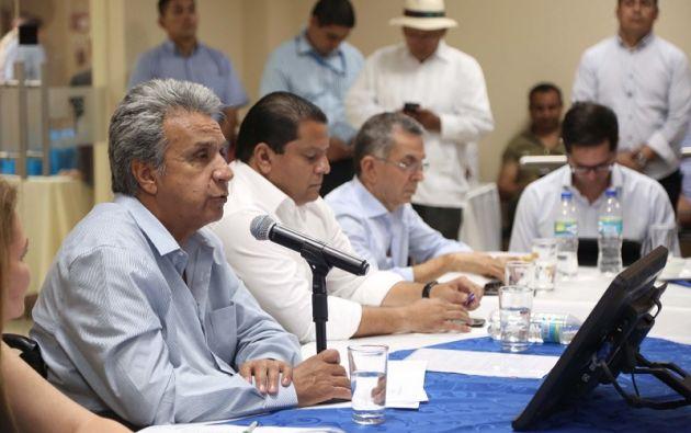 La ministra de Acuacultura y Pesca, señaló que se trabajará conjuntamente con los ministerios del Interior y de Defensa, para combatir la delincuencia. Foto: Secom