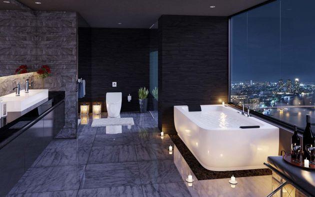 Si bien el baño es un espacio de relax no puede dejar de ser moderno con elementos que destaquen sus formas y colores. Foto: Cortesía Home Vega