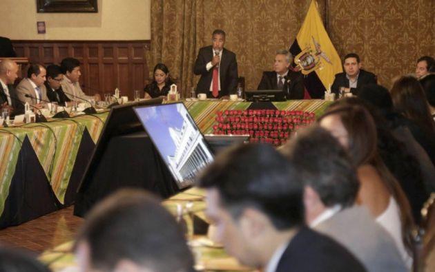 Bolívar Armijos, presidente del Consejo anunció una movilización a escala nacional en respaldo al primer mandatario. Foto: Twitter