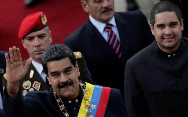 """""""Rechazamos las cobardes, insolentes e infames amenazas"""" de Trump """"contra la sagrada soberanía de Venezuela"""", escribió Rodríguez. Foto: Reuters"""