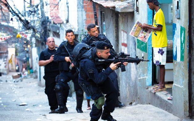 """""""En ningún lugar del país (como en Río de Janeiro) hay tantas armas en manos de los criminales"""", afirmó el comandante general de la PM en Río. Foto: Eje central"""