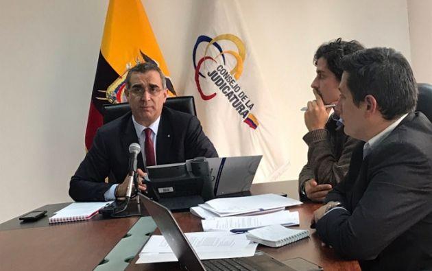 """El Presidente del Consejo de la Judicatura calificó a las filtraciones de correos como un """"acto delincuencial"""". Foto: Twitter Consejo de la Judicatura"""