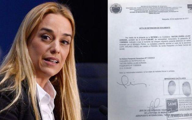 La esposa del líder opositor Leopoldo López tenía programada una gira por Europa junto al presidente del Parlamento, Julio Borges.