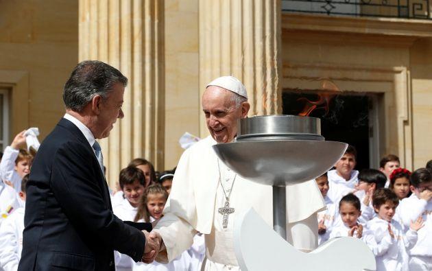 """""""Que este esfuerzo nos haga huir de toda tentación de venganza y búsqueda de intereses sólo particulares y a corto plazo"""", afirmó el pontífice. Foto: Reuters"""