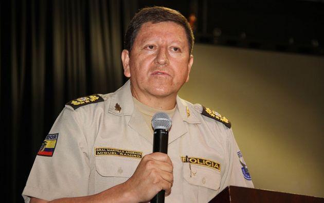 Miguel Mantilla cuenta con más de 30 años de servicio policial. Foto: Flickr Ministerio del Interior