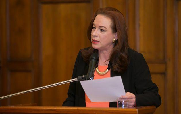 """""""Nuestros consulados están activados para brindar asistencia"""", dijo María Fernanda Espinosa. Foto: Flikcr Presidencia"""