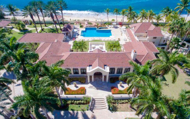 La mansión denominada Chateau des Palmiers está ubicada en la isla caribeña de Saint Martin. Foto: Cedoc