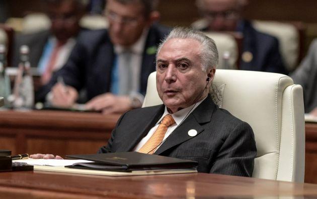 Un supuesto informe de la Policía Federal acusa a Michel Temer de integrar una banda criminal junto a la cúpula de su partido. Foto: Reuters