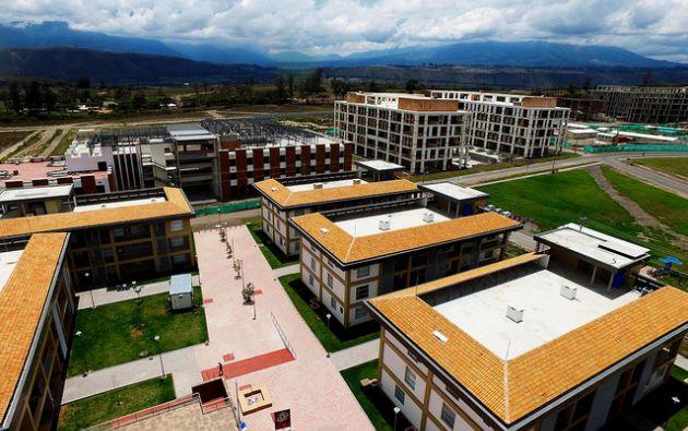 Yachay se divide en cuatro grandes áreas: zona urbana, un parque tecnológico, infraestructura tecnológica y la construcción de un parque industrial, tecnológico y empresarial. Foto: Flickr Yachay