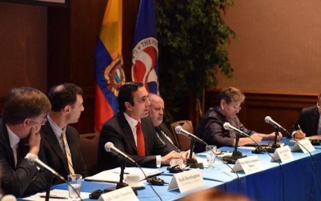 Campana se reunió con Ross y posteriormente también mantuvo encuentros con miembros del Departamento de Estado, el Senado y la Cámara estadounidense de Comercio. Foto: Twitter Campana