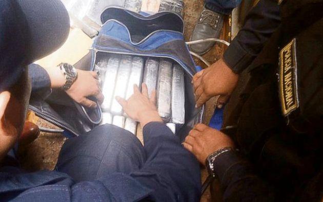 Droga iba a ser enviada a Ecuador y de ahí posiblemente a Estados Unidos. Foto: Larepublica.pe