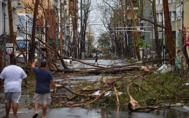 Un total de 15 localidades están incomunicadas y un puente afectado. Foto: AFP