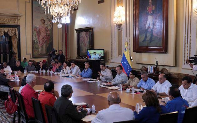 """Maduro: """"la delegación de Venezuela"""" estará allí sin """"falta, disciplinada puntualmente y dispuesta a seguir las conversaciones con calidad humana, con calidad política"""". Foto: Reuters"""
